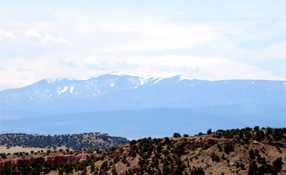 View of the Colorado rockies, near a BOP facility