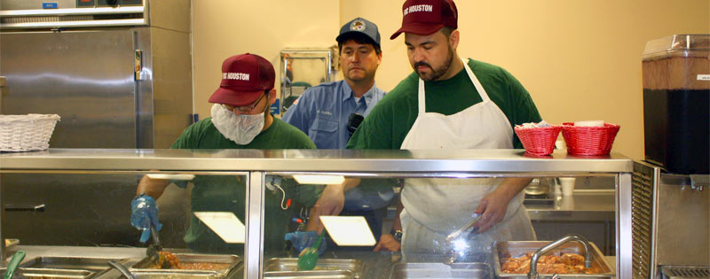 Food service workers prepare and serve food